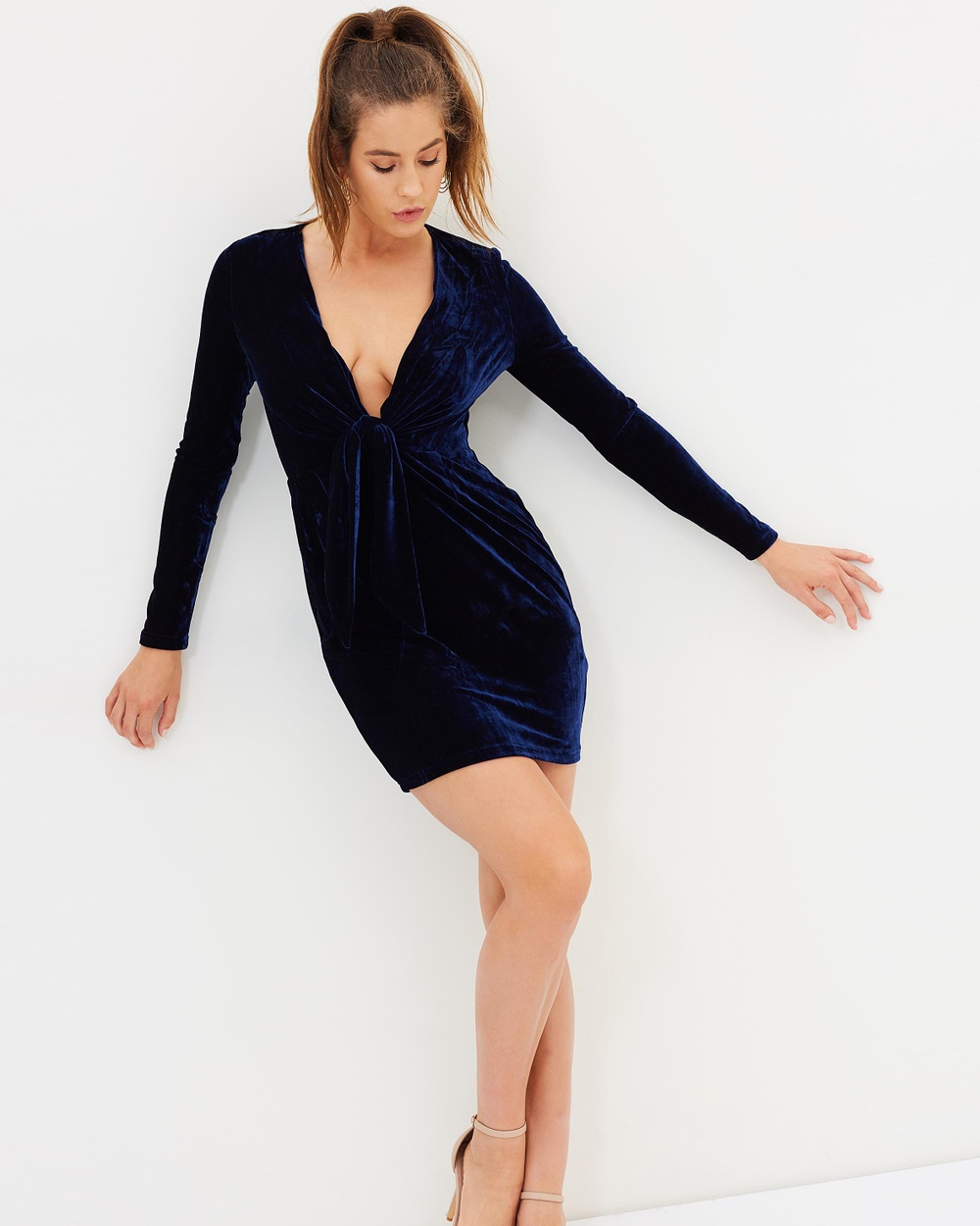 MINKPINK Midnight Hour Velvet Dress Bodycon Dresses Midnight Midnight Hour Velvet Dress