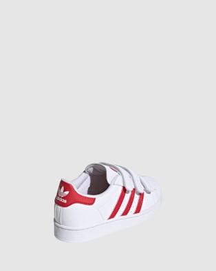 adidas Originals Superstar Heart Self Fastening Pre School - Sneakers (White/Red)