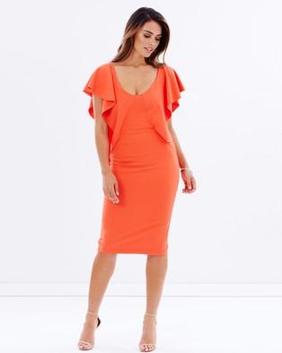 Pasduchas – Carousel Wing Midi – Bodycon Dresses (Tangerine)