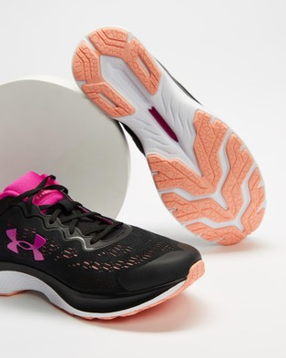 Under Armour Charged Bandit 6 Women's Performance Shoes Black, White & Meteor Pink