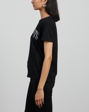 AllSaints - Dropout Mic Tee T-Shirts & Singlets (Black)