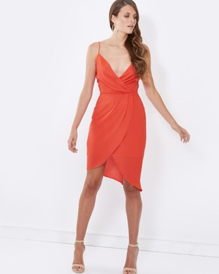 Tussah – Virginia Cocktail Dress Coral
