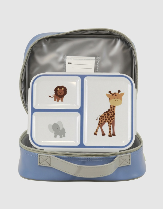 Bobbleart - Large Lunch Bag and Bento Box Safari