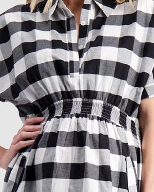 Maive & Bo Audrey Maternity Shirt Dress - Dresses (Black/White)