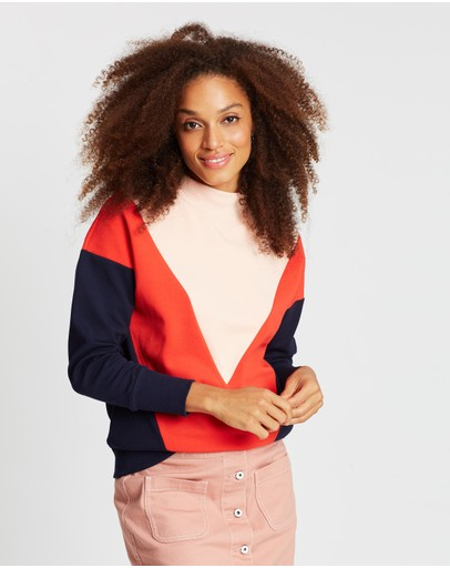 Maison Scotch - Turtleneck Colour-Block Sweater