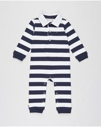 Tommy Hilfiger - Rugby Stripe LS Coveralls - Babies