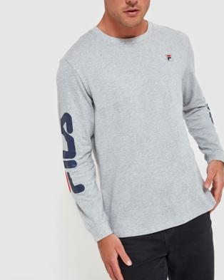 Fila Classic Long Sleeve Tee - Long Sleeve T-Shirts (Silver Marle)