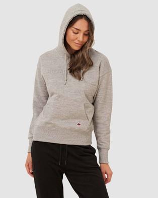Superdry Sportstyle Embossed Hood - Sweats (Grey Slub Grindle)