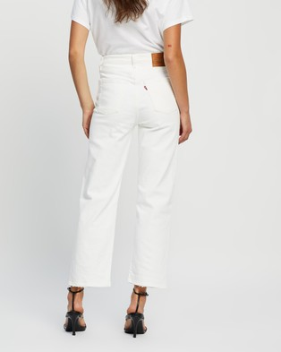 Levi's Ribcage Straight Ankle Jeans - High-Waisted (Cloud Over)