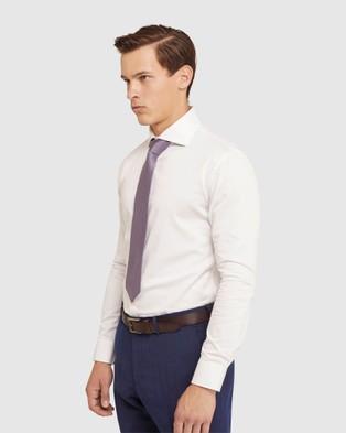 Oxford Trafalgar White Twill Shirt - Shirts & Polos (White)