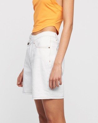 Lioness Lowrider Denim Shorts - Denim (White)