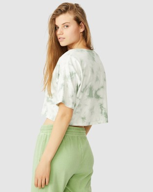 Cotton On The Slouch Pocket Tee - T-Shirts & Singlets (Lush Green Tie Dye)