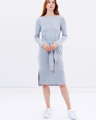 Elka Collective – Amber Knit Dress Grey Marle