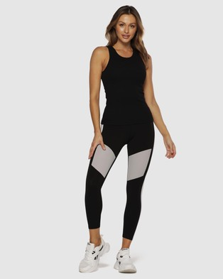 Lorna Jane Everyday Ribbed Tank - Muscle Tops (Black)