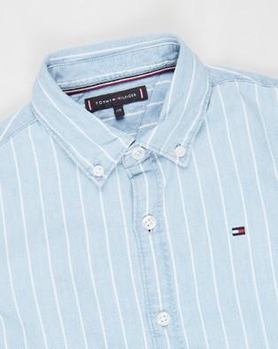 Tommy Hilfiger Denim Stripe LS Shirt   Teens - Casual shirts (Denim Light)