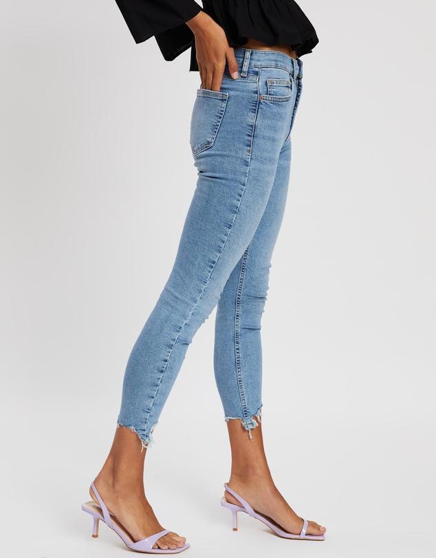 Women Jagged Hem Jamie Skinny Jeans