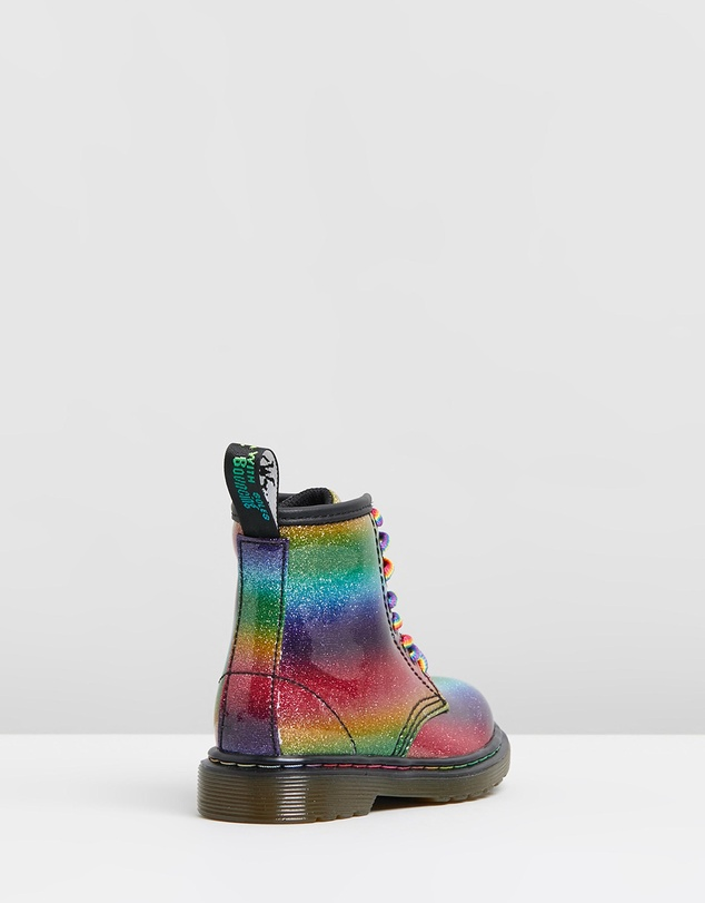 Dr.Martens Kids 1460 Ombre Glitter Glitter Patent Synthetic Bottes