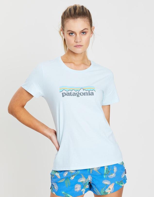 Pastel P 6 Logo Organic Crew T Shirt by Patagonia