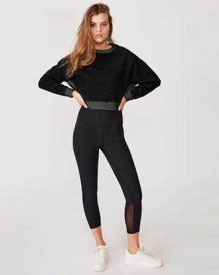 Cotton On Body Active Jacquard Fleece Top - Sweats (Black)