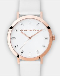 Christian Paul - Luxe Whitehaven 43mm Watch