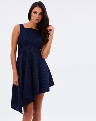 Romance by Honey and Beau – Tara Asymmetric Dress – Dresses (Navy)