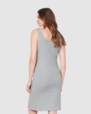 Soon Maternity Essential Feeding Tank Dress - Bodycon Dresses (Grey)