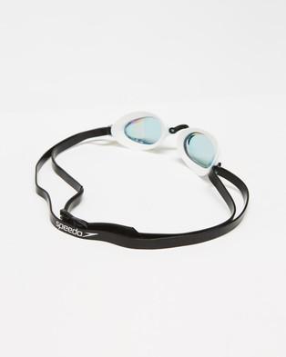 Speedo Fastskin Speedsocket 2 Mirror Goggles   Unisex - Goggles (White & Copper)