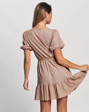 Atmos&Here Zamira Linen Blend Mini Dress - Dresses (Pastel Pink)