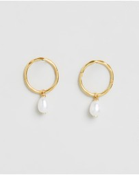 By . G - Mini Pearl Hoops