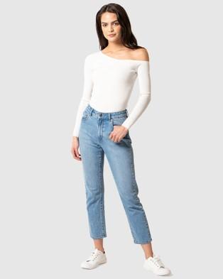 Forever New - Jacinta Off Shoulder Knit Top - Jumpers & Cardigans (Porcelain) Jacinta Off Shoulder Knit Top