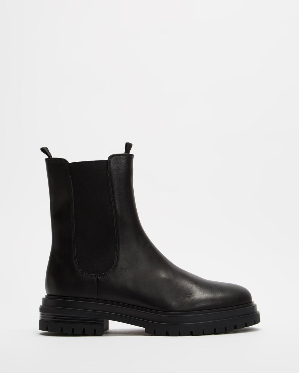 Tony Bianco Wolfe Boots Black Como Australia