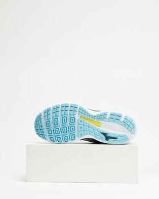 Mizuno Wave Sky 3   Women's - Outdoor Shoes (Vapor Blue, White & Gulf Stream)