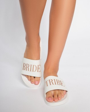 Ann Summers Bride Tribe Sliders Slides White