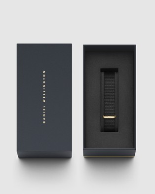 Daniel Wellington Nato Strap Petite 14 Cornwall Watch Band   For Petite 32mm - Watches (Gold)