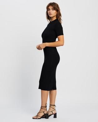 Atmos&Here Lulu Midi Dress - Bodycon Dresses (Black)