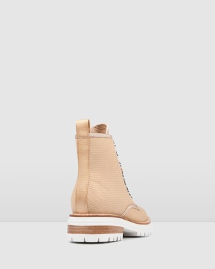 Jo Mercer - Burleigh Flat Ankle Boots (NATURAL)