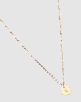 Dear Addison Kids - Letter N Necklace - Jewellery (Gold)