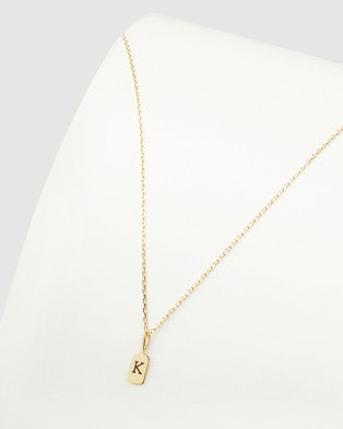 Luna Rae Solid Gold The Letter K Necklace Jewellery Gold