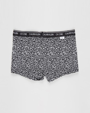 Calvin Klein CK One Cotton Trunks - Trunks (Composition Print & Black)