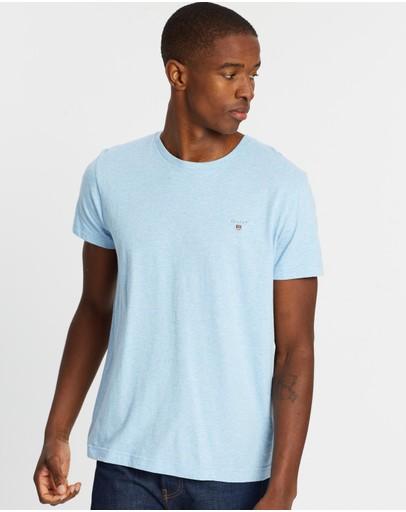 Gant The Original T-shirt Light Blue Melange