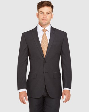 Kelly Country Livorno Slim Fit Charcoal Suit - Suits & Blazers (Grey)