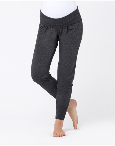 Ripe Maternity Jersey Lounge Pants Charcoal