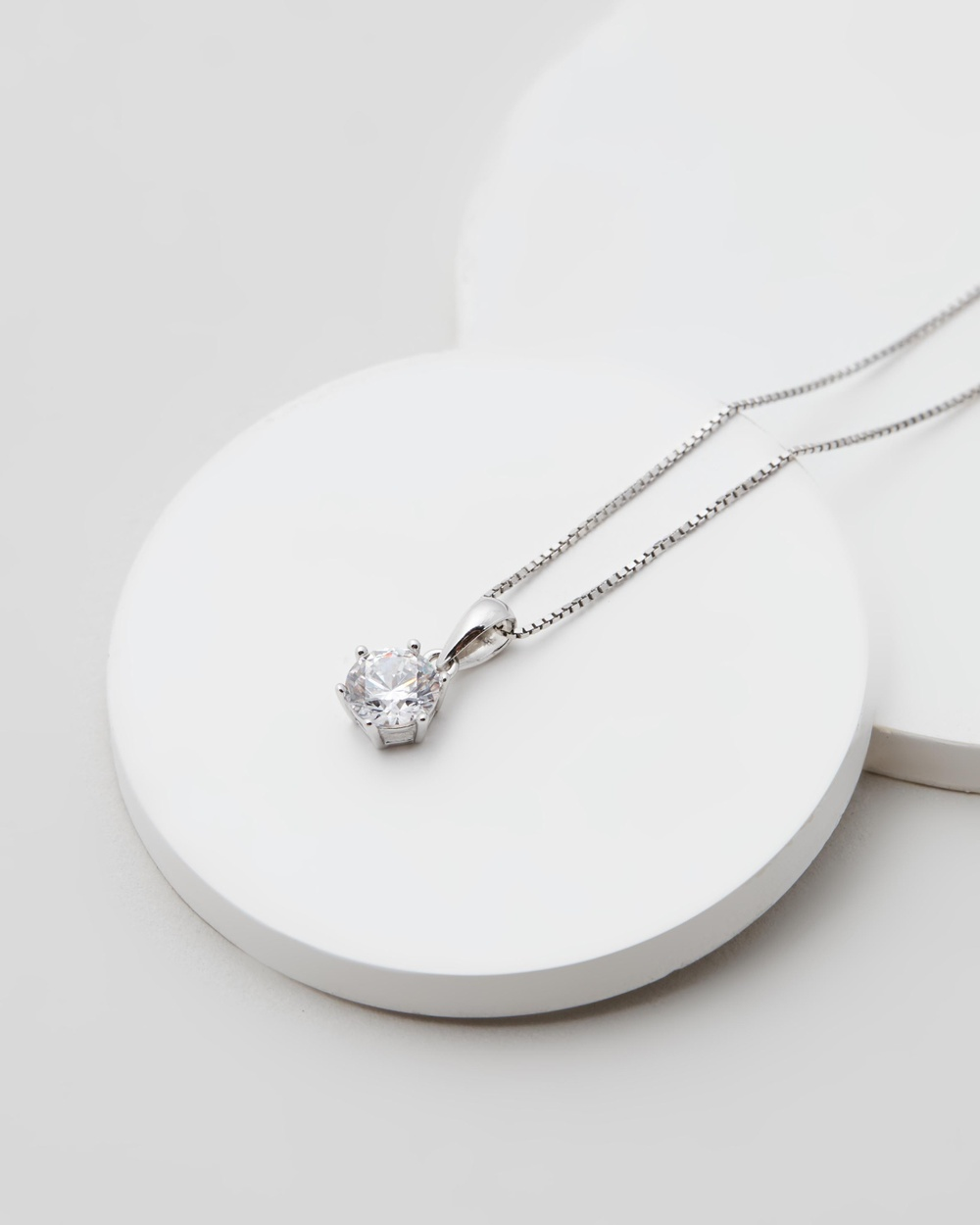 Michael Hill Circle Pendant with White Cubic Zirconia Jewellery Sterling Silver