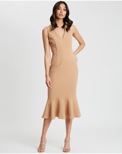 Chancery Leah Midi Dress Tan