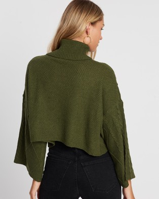 Atmos&Here Serena Bell Sleeve Knit - Jumpers & Cardigans (Green)