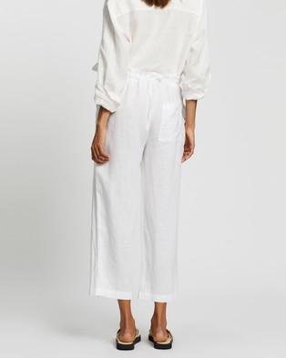 Assembly Label Ollie Linen Pants - Pants (White)