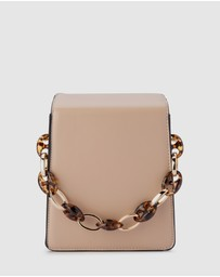 Olga Berg - Cherry Acrylic Chain Bag