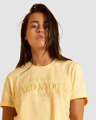 First Base School of Hard Knocks Tee - Short Sleeve T-Shirts (Yellow)