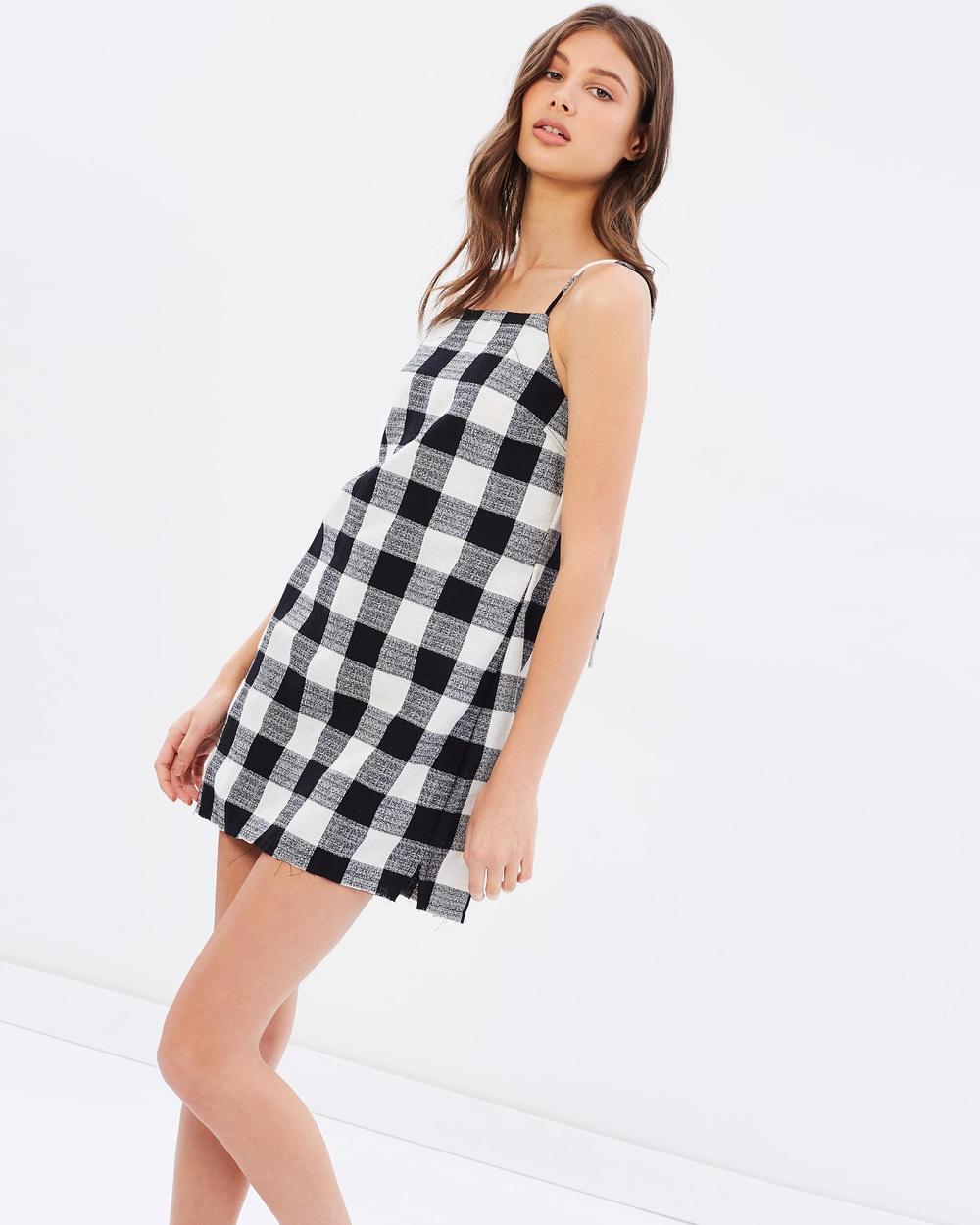 Rue Stiic Gilmore Mini Dress Dresses Check Gilmore Mini Dress