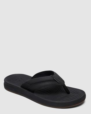 Quiksilver Mens Travel Oasis Sandal - Thongs (BLACK/BLACK/BROWN)
